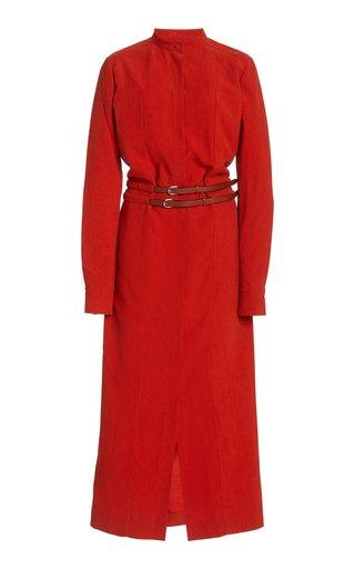 Rees Woven Linen Maxi Dress