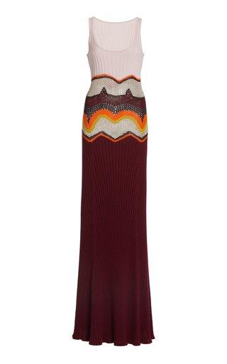 Sainz Cashmere-Silk Knit Maxi Dress