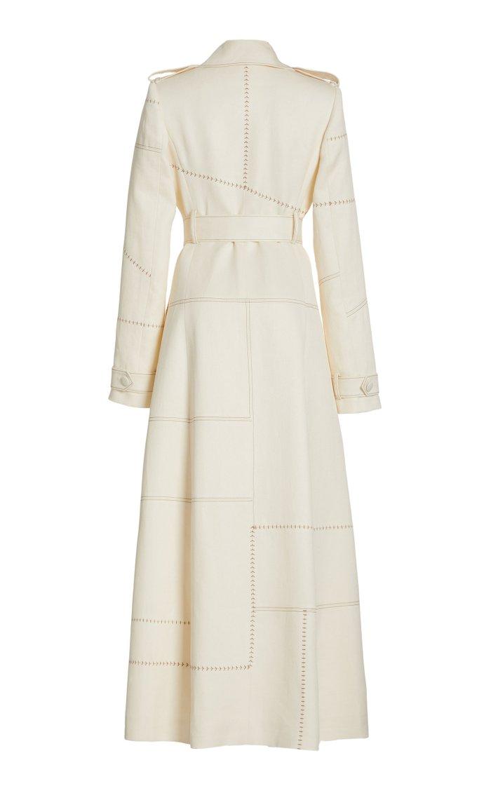 Hamilton Windowpane Woven Linen Coat
