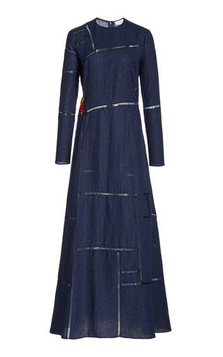 Jaime Woven Aloe Linen Maxi Dress