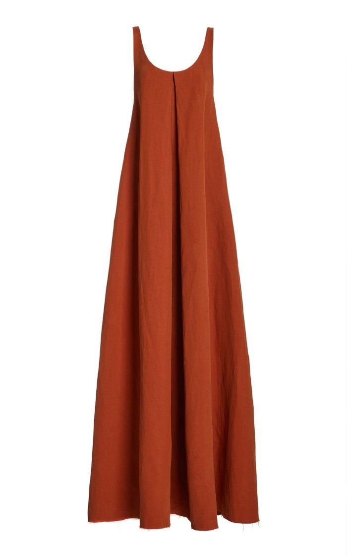 Ophelia Upcycled Linen-Silk Dress