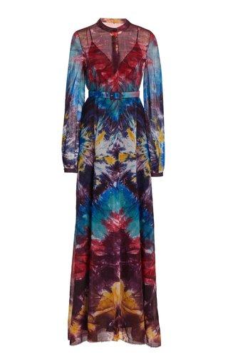 Massey Tie-Dye Cashmere Knit Dress