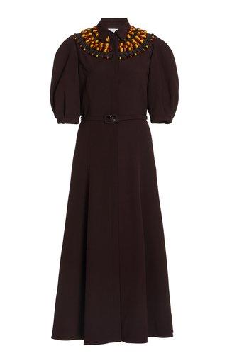Nico Woven Silk-Wool Dress