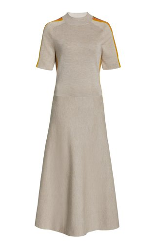 Danko Cashmere-Silk Knit A-Line Dress