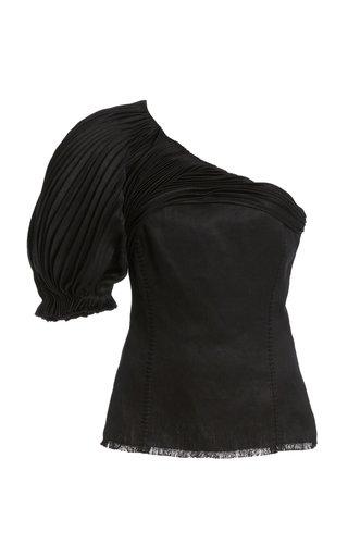 Allman One-Shoulder Linen Top