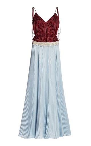 Beata Two-Tone Upcycled Silk Dress
