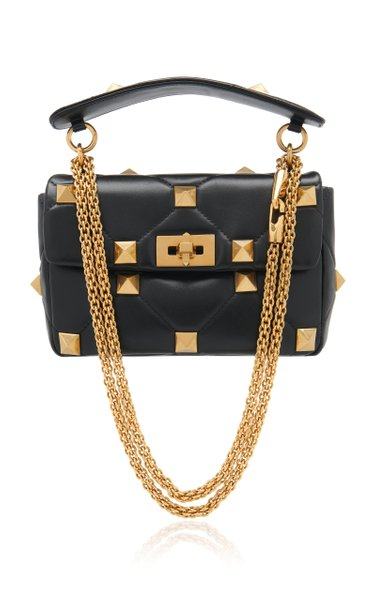 Valentino Garavani Medium Roman Studded Leather Shoulder Bag