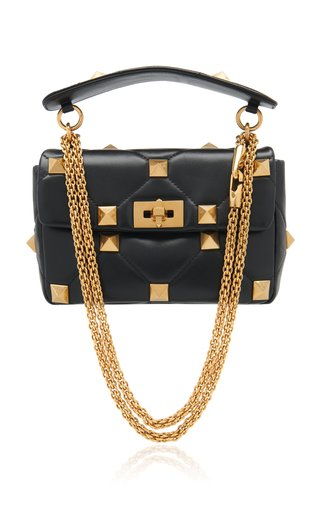 Valentino Garavani Medium Roman Stud Leather Shoulder Bag