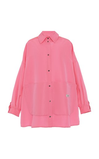 Oversized Collared Cotton Blouse