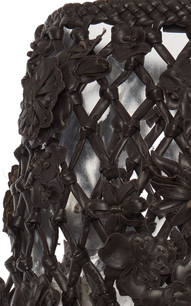 Leather Net Skirt
