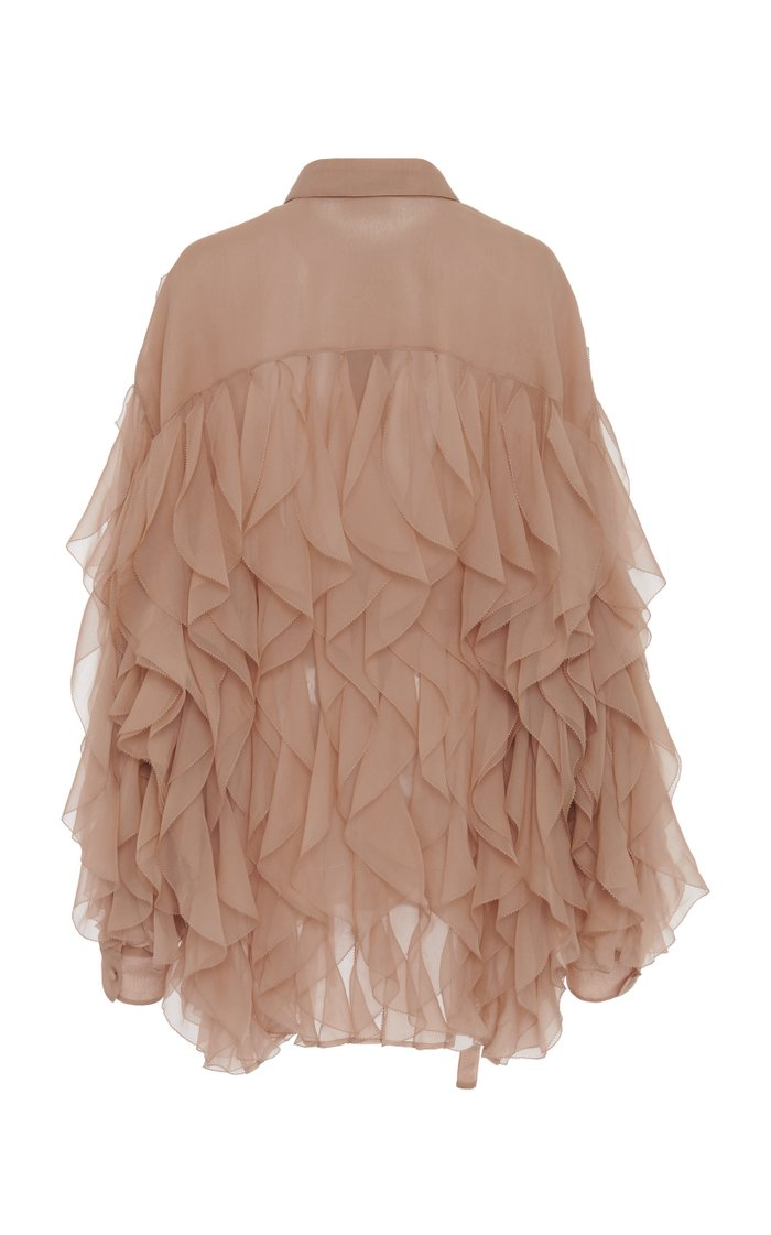 Ruffled Silk Shirt