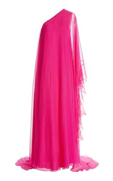 Asymmetric Silk Gown