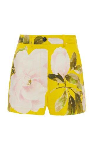 Floral Cotton-Silk Shorts