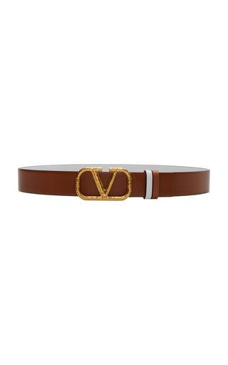 Valentino Garavani Reversible Wrought Brass VLogo Belt