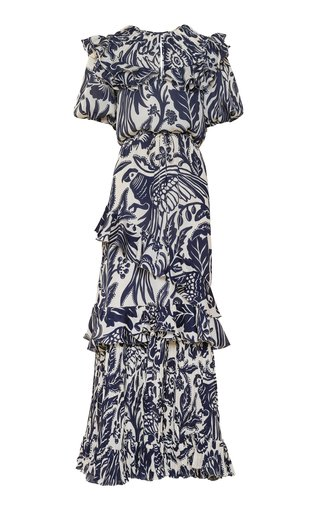 Layers Of Reality Printed Crepe Gown