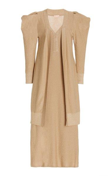 Kashmir Metallic Cotton Dress Set