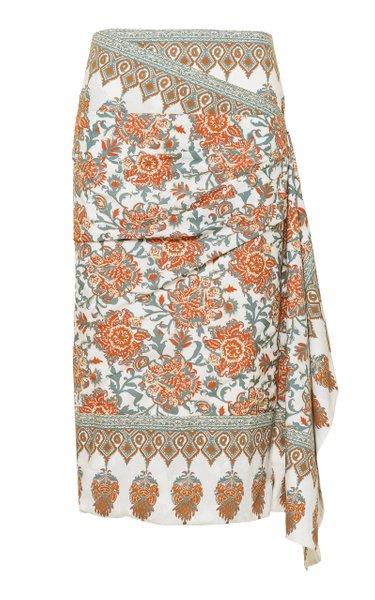 Common Ancestor Printed Cotton Skirt