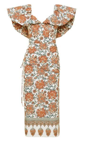 Art De Vivre Printed Cotton Dress