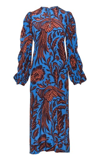 Indus Valley Printed Silk Maxi Dress