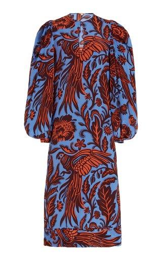 Indus Valley Printed Silk Maxi Dress
