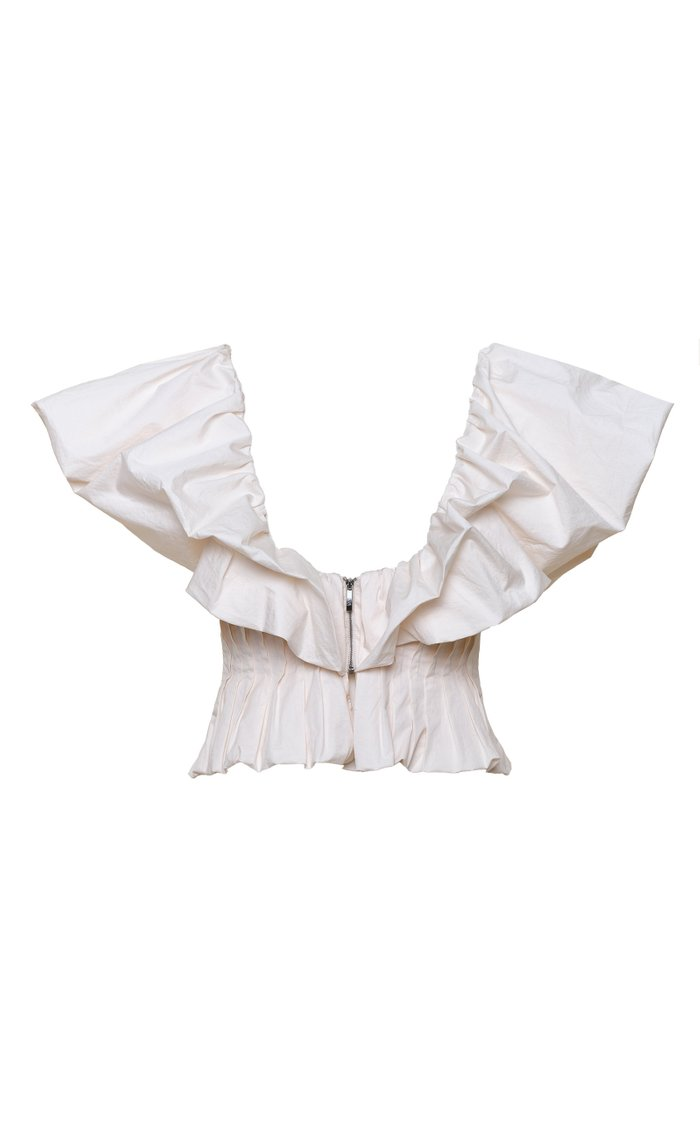 Intellectual Femme Cotton-Poplin Peplum Top