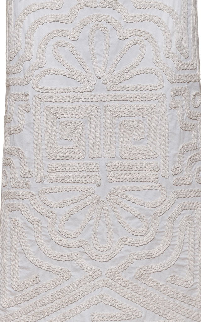 Ancient Times Embroidered Cotton-Poplin Skirts