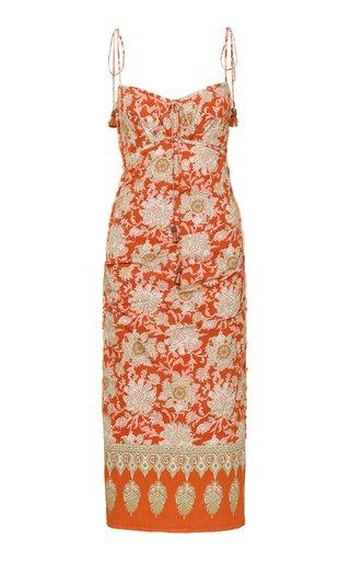 Prettier In Spanish Printed Cotton Slip Dress