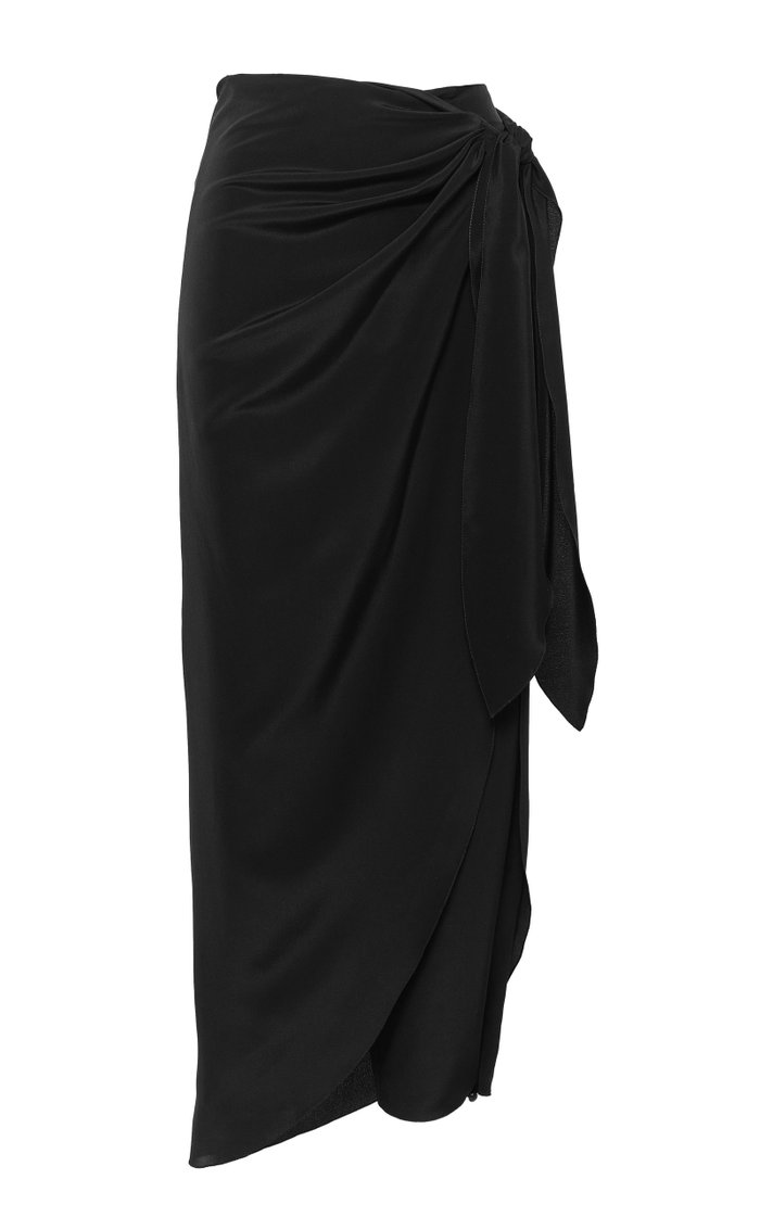 Sol Naciente Silk Cropped Pants