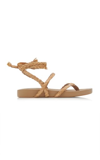 Daal Raffia and Leather Sandals