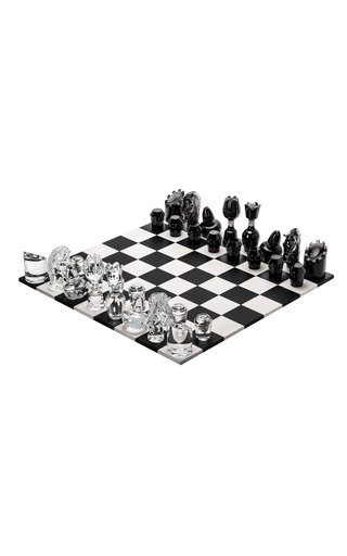 Jeu Flannel-Grey Wood ,Chess Set