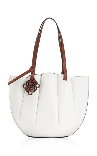 Shell Small Leather Tote Bag