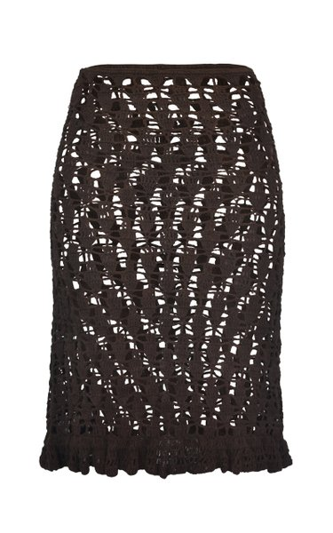Flamenca Crocheted Organic Cotton Midi Skirt