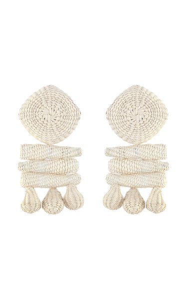 Mini Areca Palm Of Iraca Statement Earrings