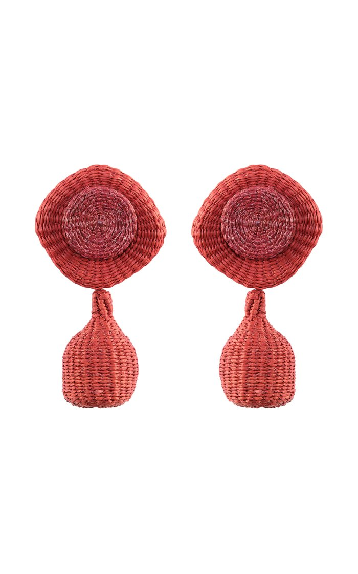 Bengal Palm Of Iraca Statement Earrings