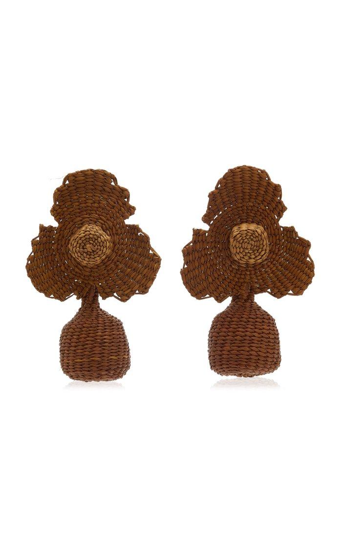 Explorando La Flor Palm Of Iraca Statement Earrings