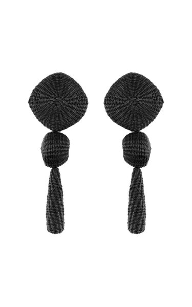 Equilibrio Antiguo Palm Of Iraca Statement Earrings