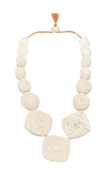 Natural Resource Palm Of Iraca Statement Necklace
