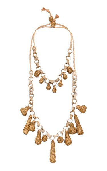 Sublime Aventura Palm Of Iraca Layered Necklace