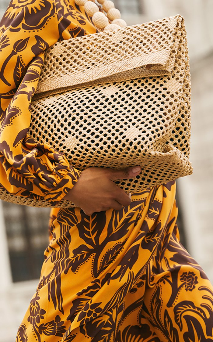 Bay Of Bengal Palm Of Iraca Oversized Clutch