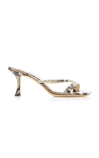 Maelie Snake-Effect Leather Sandals