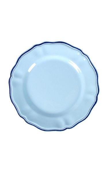 Moda Domus, Set-Of-Four Hand-Painted Ceramic Dinner Plates