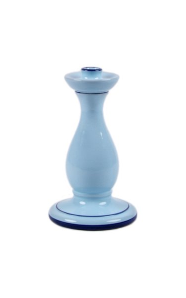 Moda Domus, Set-Of-Two Hand-Painted Small Ceramic Candlesticks