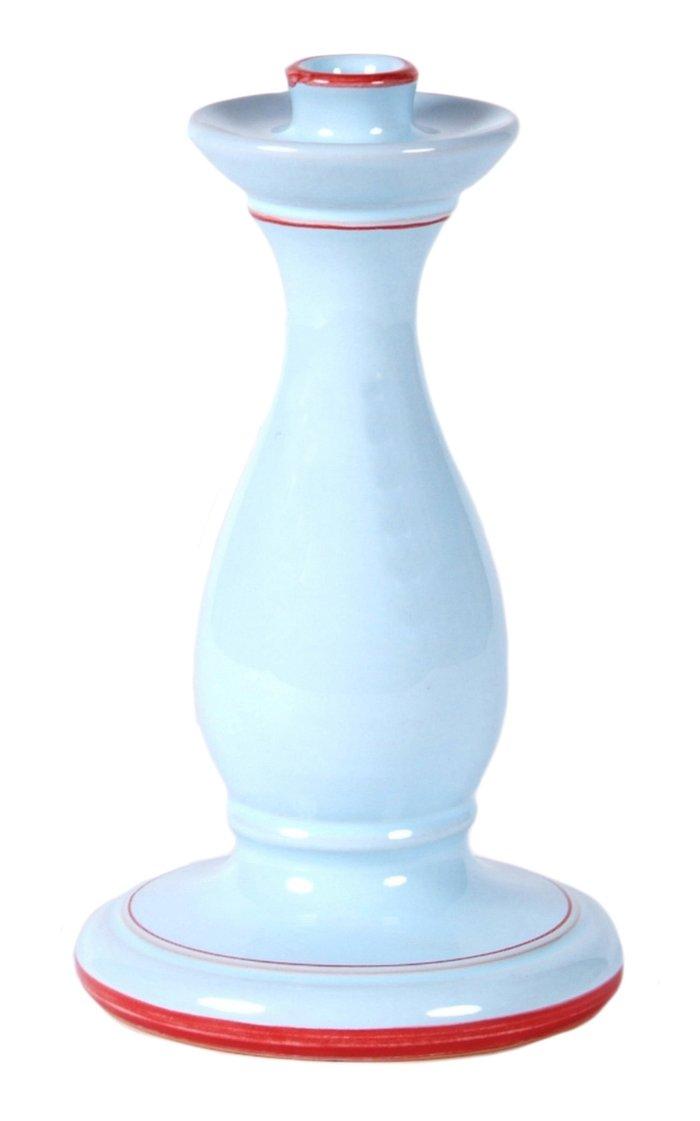 Set-Of-Two Large Ceramic Candlesticks