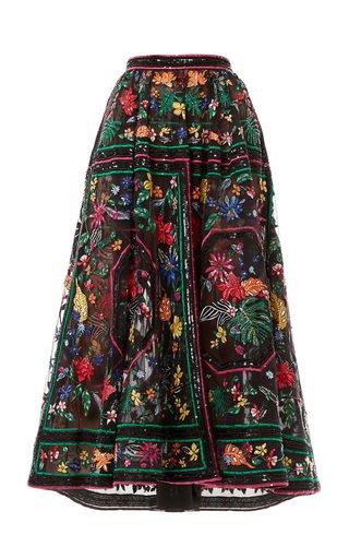 Passiflora Embroidered Skirt