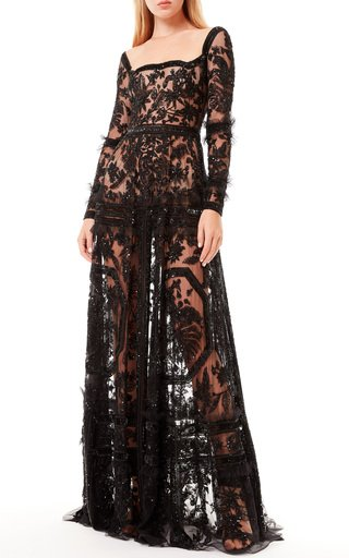 Passiflora Embroidered Tulle Dress