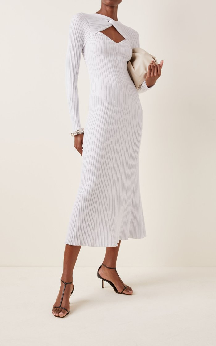 Vivian Ribbed-Knit Midi Dress