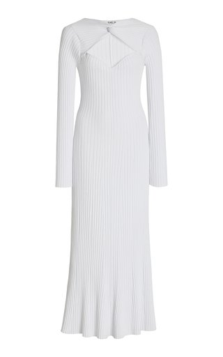 Vivian Ribbed-Knit Midi Dress