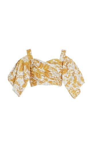 Lucinda Printed Cotton Bustier Top