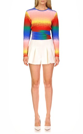 Apollo Pleated Cotton Shorts