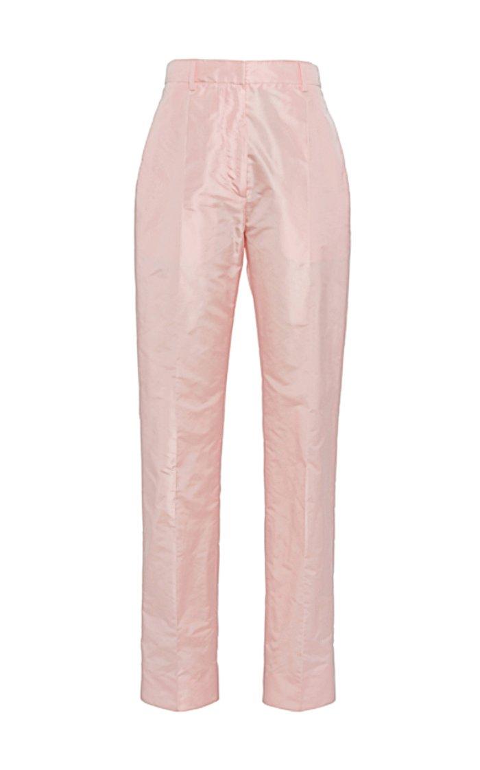 Silk Straight-Leg Pants